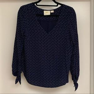 Maeve by Anthropologie Polka Dot Blouse